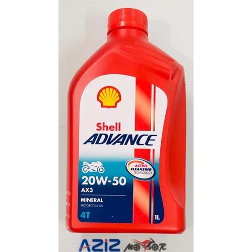 20W-50 YAĞ SHELL ADVANCE MOTORCYCLE OIL